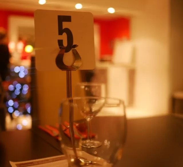 table number and seating at Wa Curry