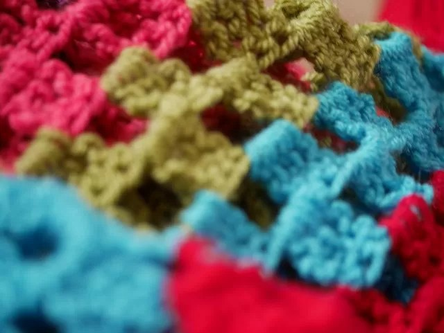 crochet stripy blanket