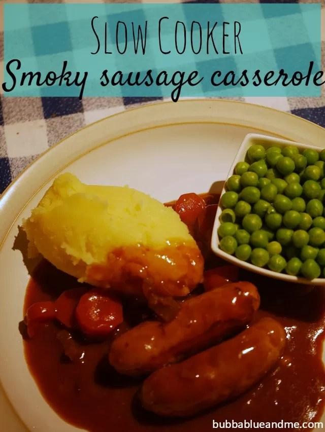 Slow cooker smoky sausage casserole - Bubbablue and me
