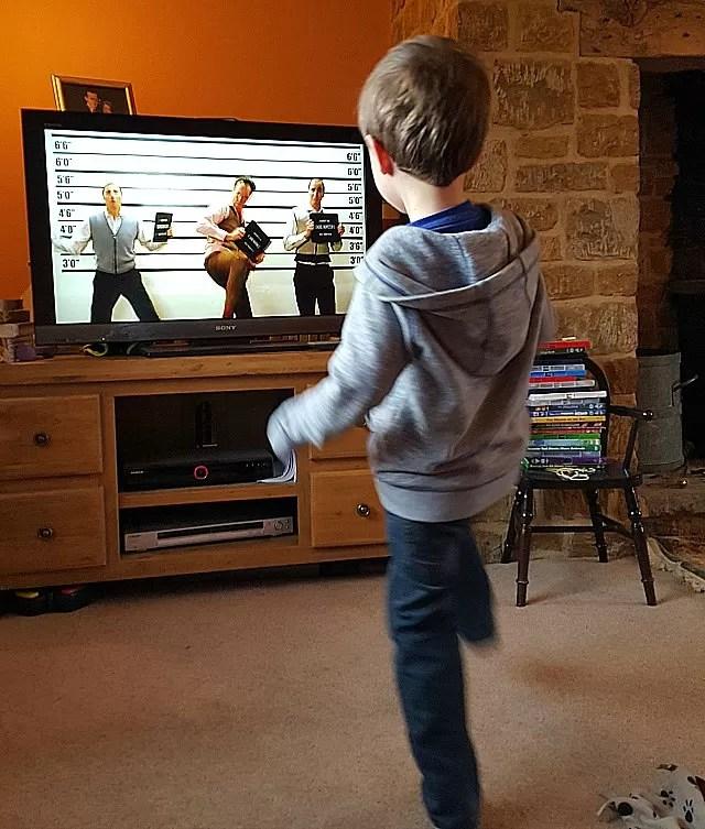 dancing to Horrid Henry