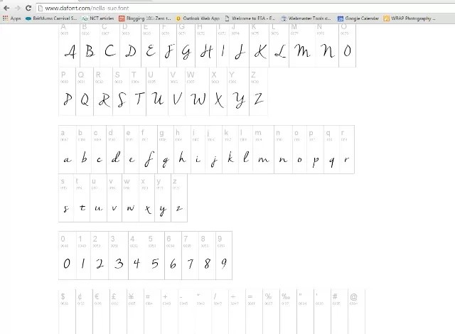 example of fonts from dafont