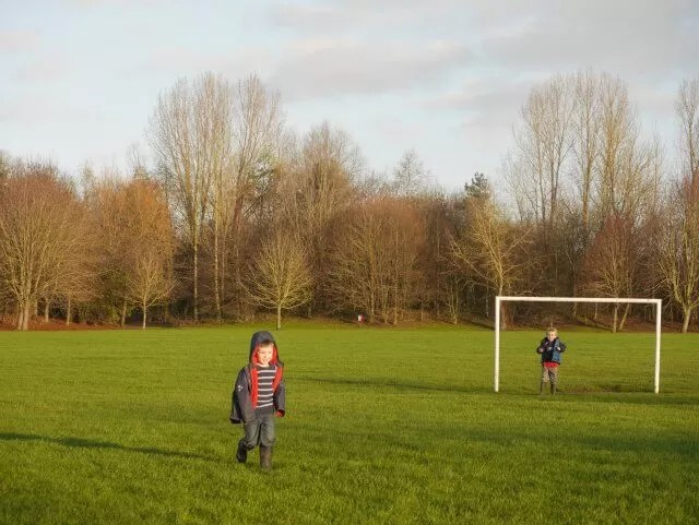 playing football without a ball