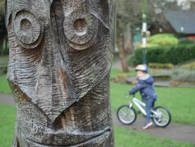 wooden carving in People's Park