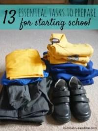 13 essential tasks preparing kids for starting school