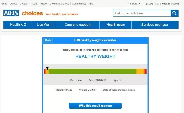 Children's BMI checks