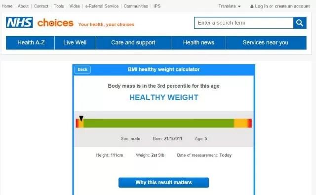 Children's BMI checks