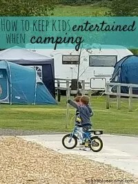 entertaining kids when camping