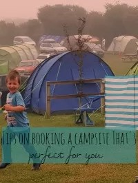 tips on booking a camping holiday