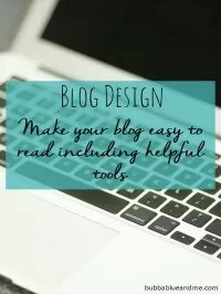 easy to read blog design