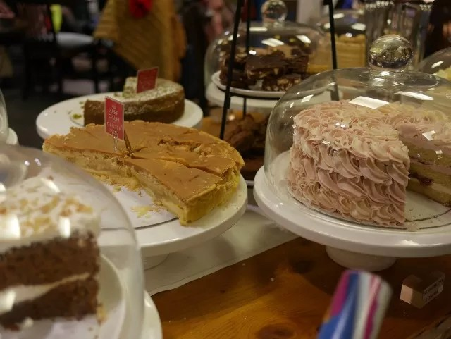 cake selection at Boswells