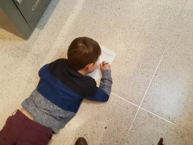 drawing pictures in Ashmolean museum