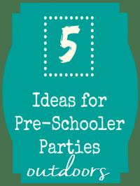 preschool outdoor party ideas