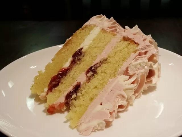 raspberry ruffle cake - Boswells