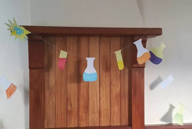 science party bunting