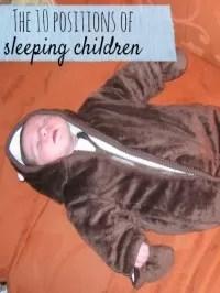 sleeping children positions