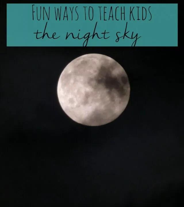teach kids the night sky