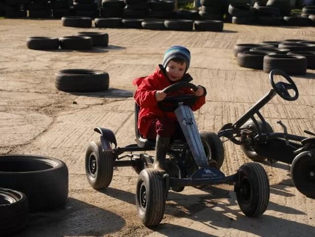 go karting at Green dragon farm