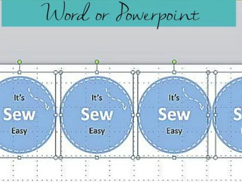 how to make pretty labels in word or powerpoint