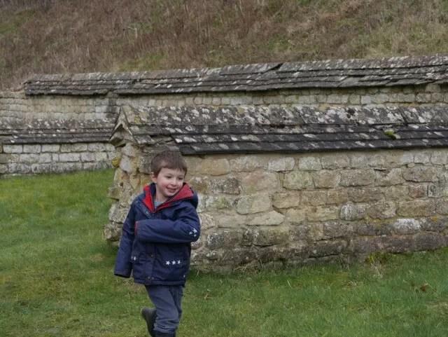 running at Chedworth roman villa