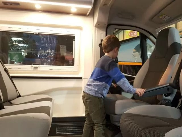 testing out motorhome seating