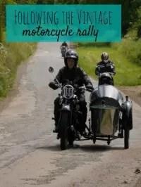 vintage motorcycle run