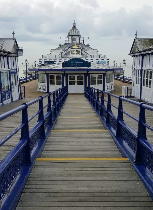 Eastbourne pier in colour