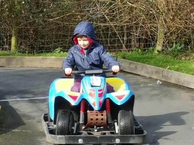 driving quad bikes at Knockhatch Adventure Park