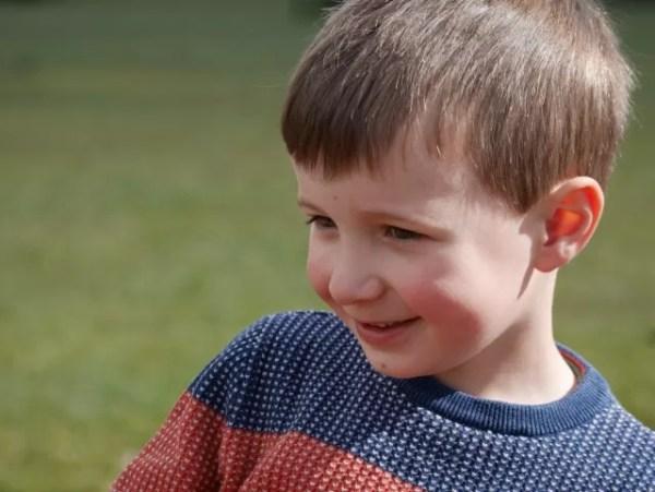 happy boy at Twycross zoo