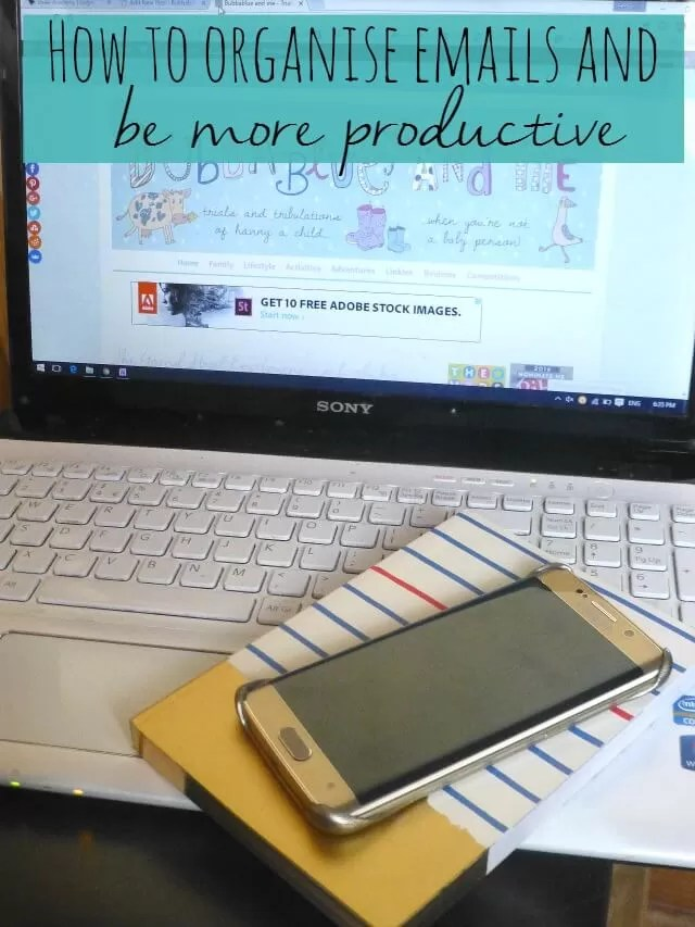 how to organise emails and be more productive Bubbablue and me