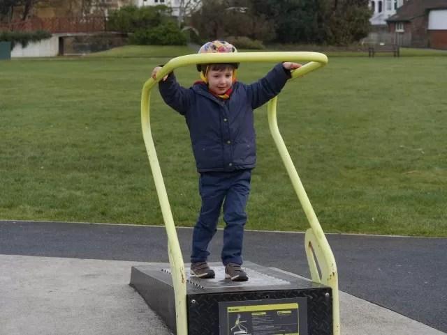 manual running machine at Bexhill park