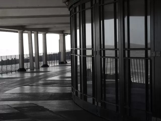 reflections in the Eastbourne bandstand