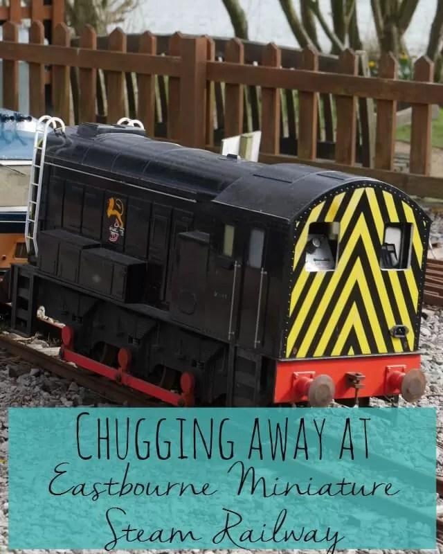 chugging away at Eastbourne miniature steam railway - Bubbablueandme