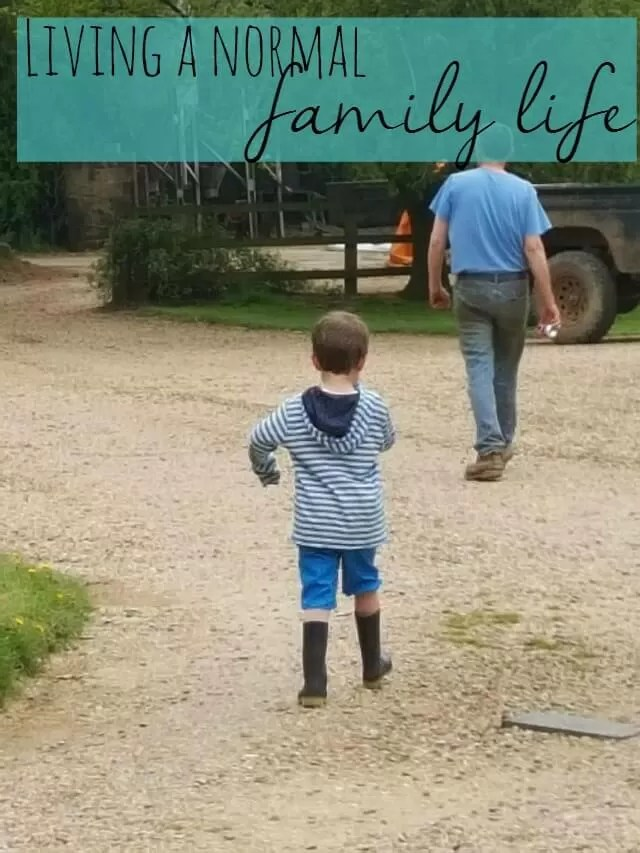 living a normal family life on the farm - Bubbablue and me