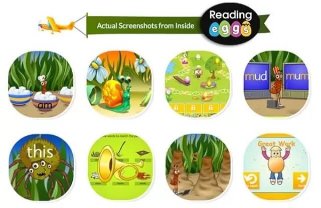 Reading Eggs screenshots