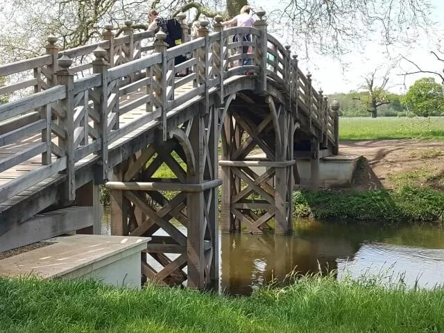 chinese bridge at croome park