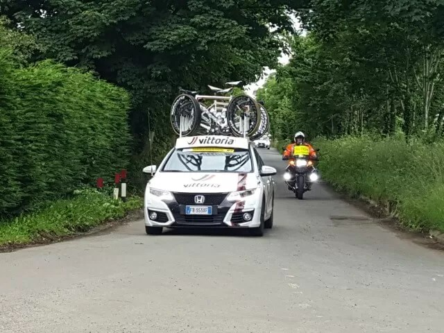 cycling support vehicles on Women's tour