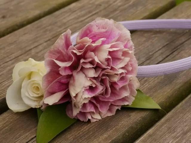 flower headband made at Feast Waddesdon