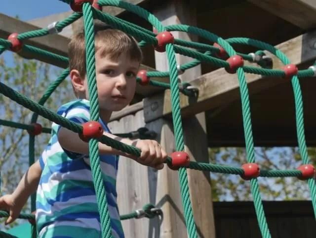 rope bridge at croome park