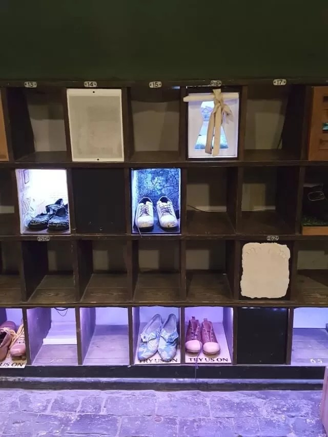 shoe displays at croome park