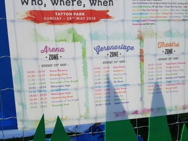 Geronimo stage schedule