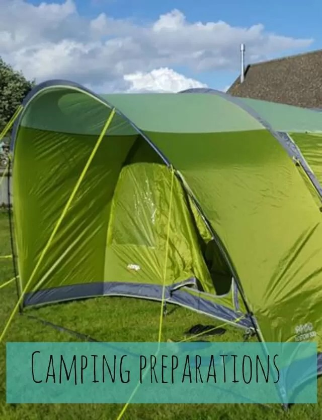 camping preparations - Bubbablue and me