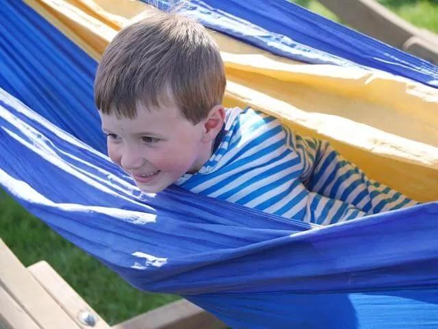 fun in the rainbow hammocks at Geronimo