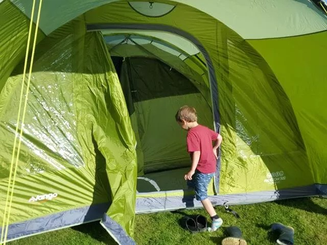 going into the new tent