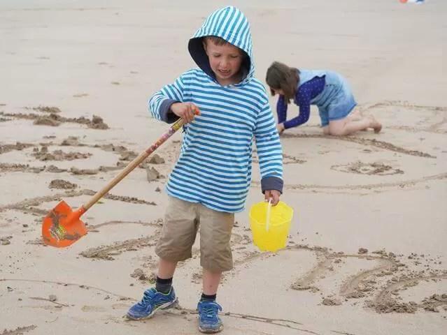sandwriting on Watersmeet beach