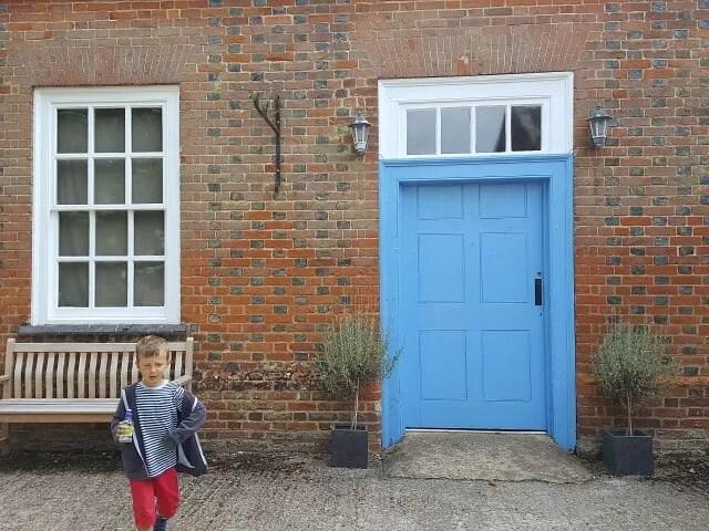 blue door in the Claydon courtyards