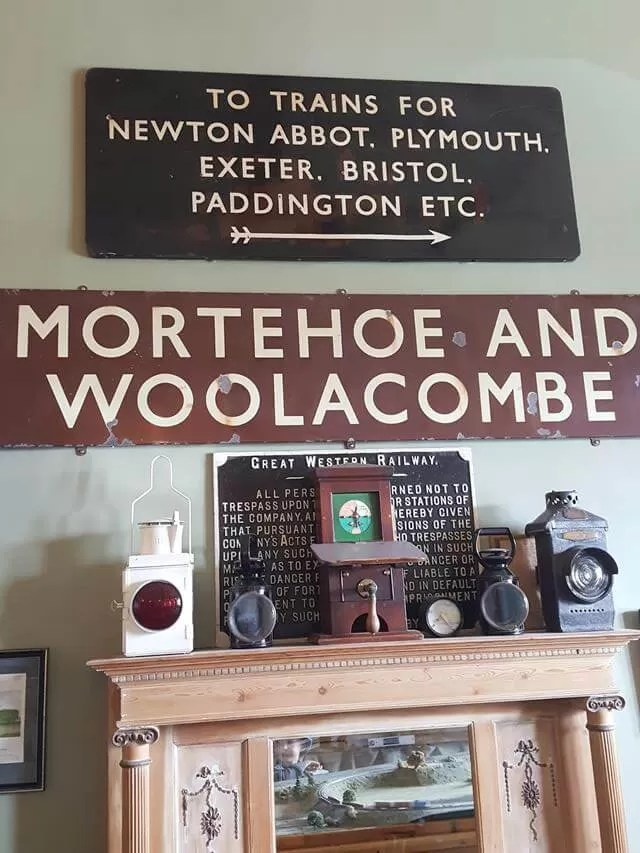 railway signs at Watermouth castle