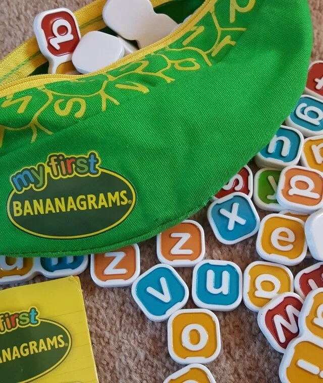 Kids Playing My First Bananagrams