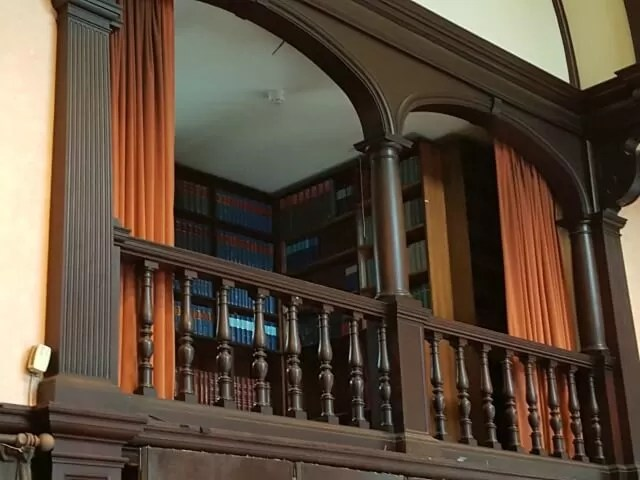 oxford town hall library balcony