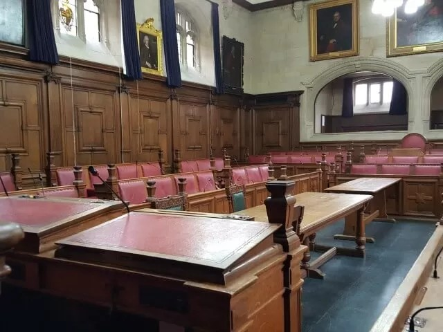 council room at oxford town hall