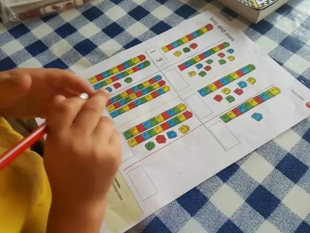 doing first maths homework